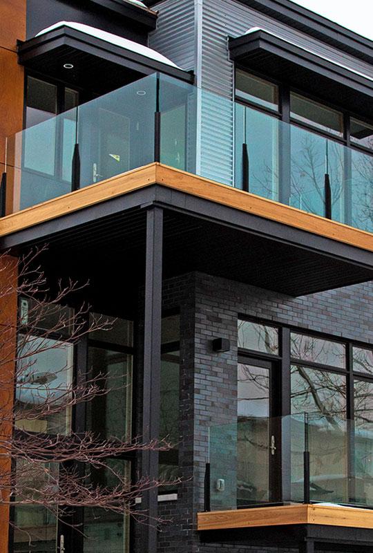 Glass Railing System Glass Balcony Glass Railing: Innovative Aluminum Systems Inc